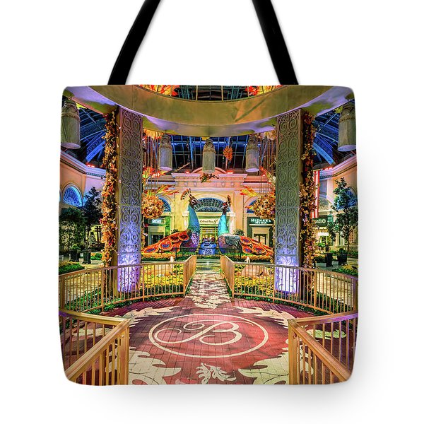 Bellagio Conservatory Fall Peacock Display Gazebo View 2017 Tote Bag