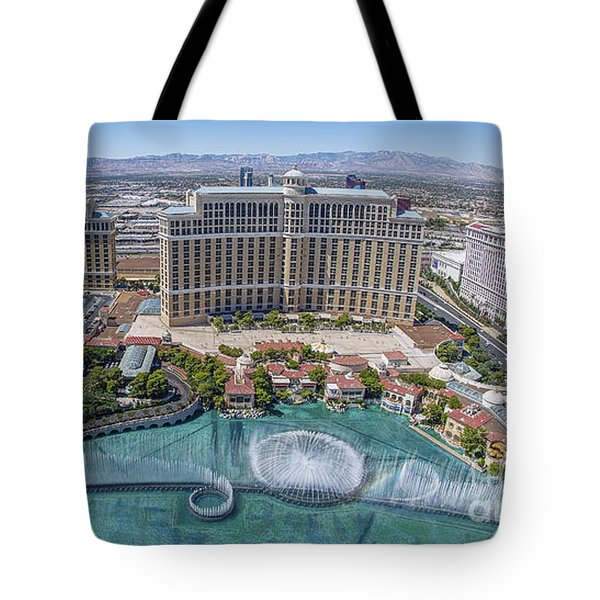 Tote Bag featuring the photograph Bellagio Fountains In The Afternoon by Aloha Art