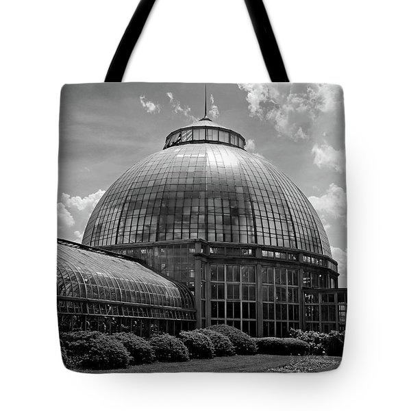 Belle Isle Conservatory 3 Bw Tote Bag by Mary Bedy