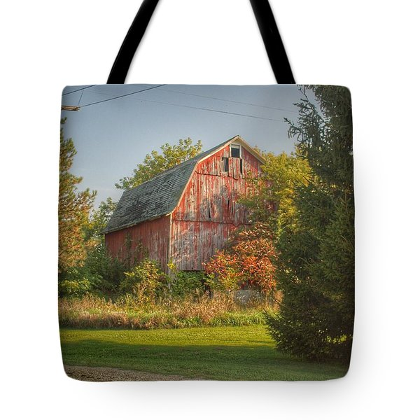0028 - Belle River Red I Tote Bag