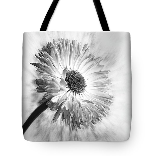 Bellis In Mono  #flower #flowers Tote Bag