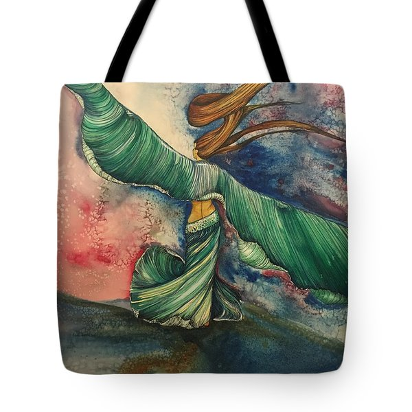Belly Dancer With Wings  Tote Bag