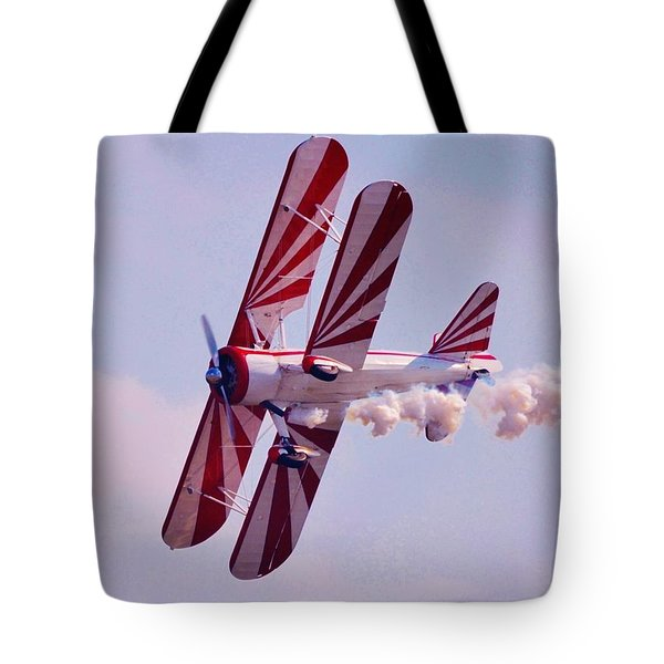 Belly Of A Biplane Tote Bag