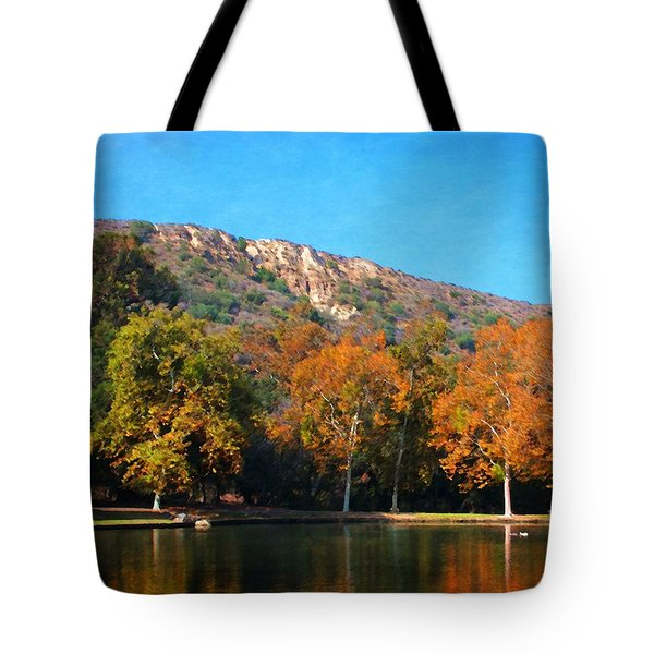Tote Bag featuring the photograph Below Puma Ridge by Timothy Bulone