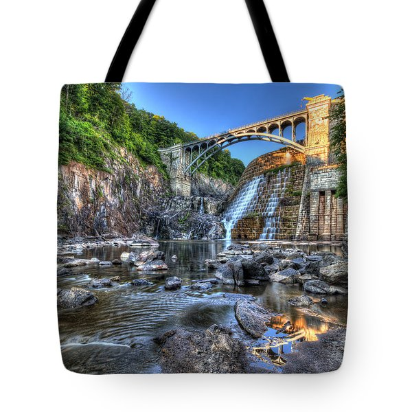 Below The Dam Tote Bag