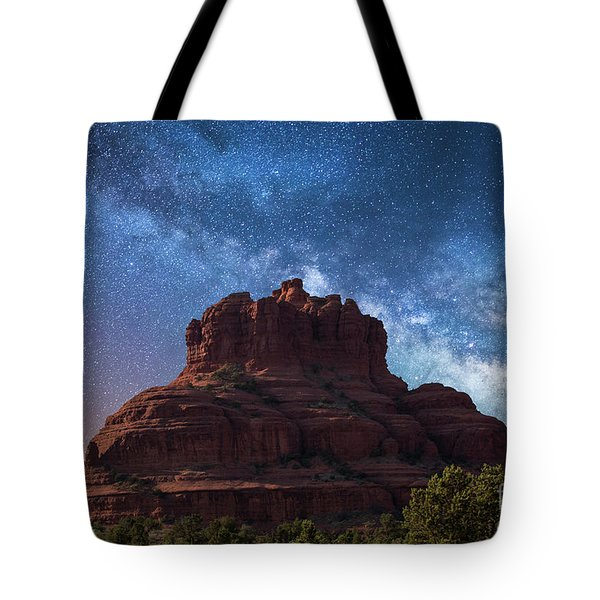 Below The Milky Way At Bell Rock Tote Bag