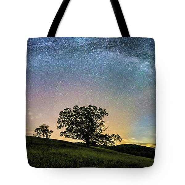 Below The Milky Way At The Blue Ridge Mountains Tote Bag