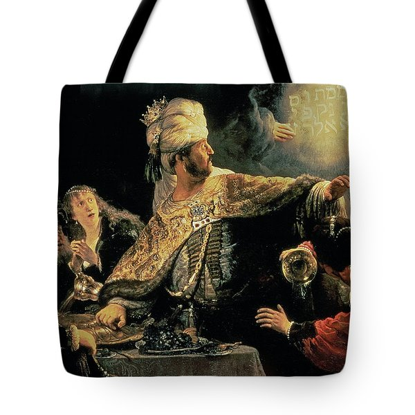 Belshazzars Feast Tote Bag by Rembrandt