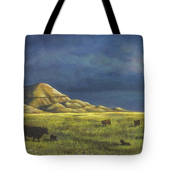 Tote Bag featuring the painting Belt Butte Spring by Kim Lockman