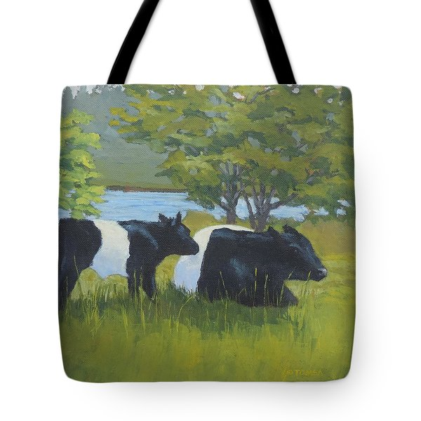 Belted Galloway And Calf Tote Bag