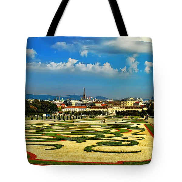Tote Bag featuring the photograph Belvedere Palace Gardens by Mariola Bitner