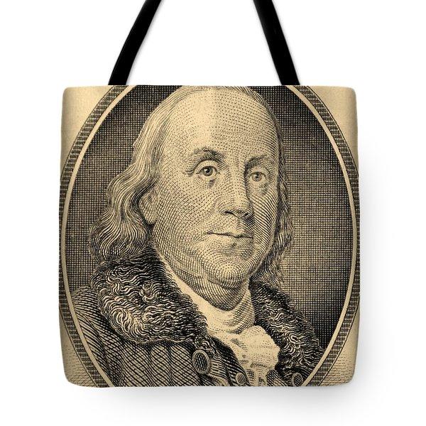 Ben Franklin In Sepia Tote Bag