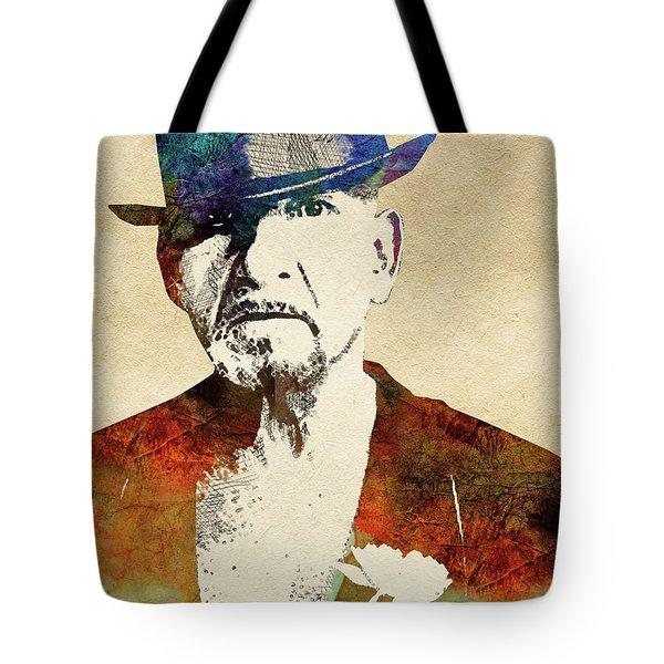 Ben Kingsley Tote Bag by Mihaela Pater