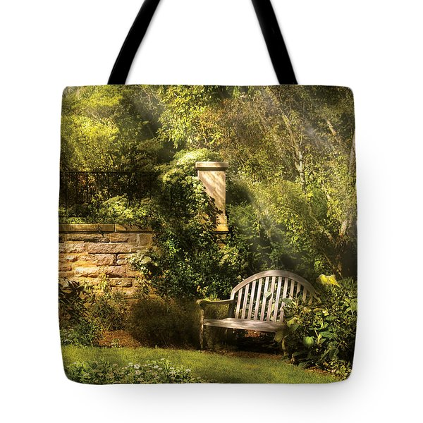 Bench - Edens Edge  Tote Bag by Mike Savad
