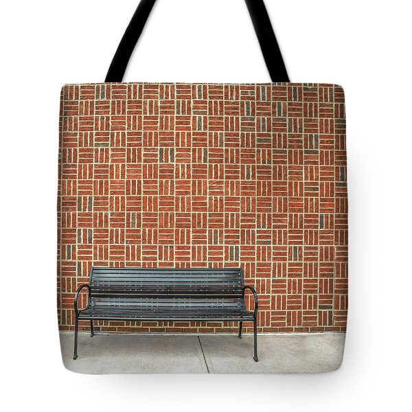 Tote Bag featuring the photograph Bench 2017 02 by Jim Dollar