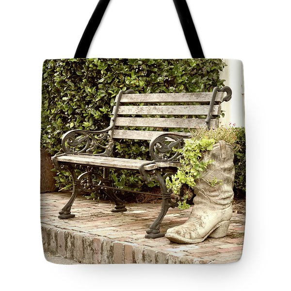 Bench And Boot 2 Tote Bag