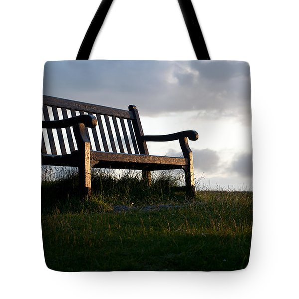 Bench At Sunset Tote Bag