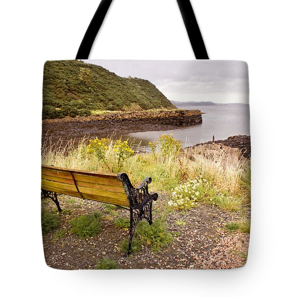Bench At The Bay Tote Bag