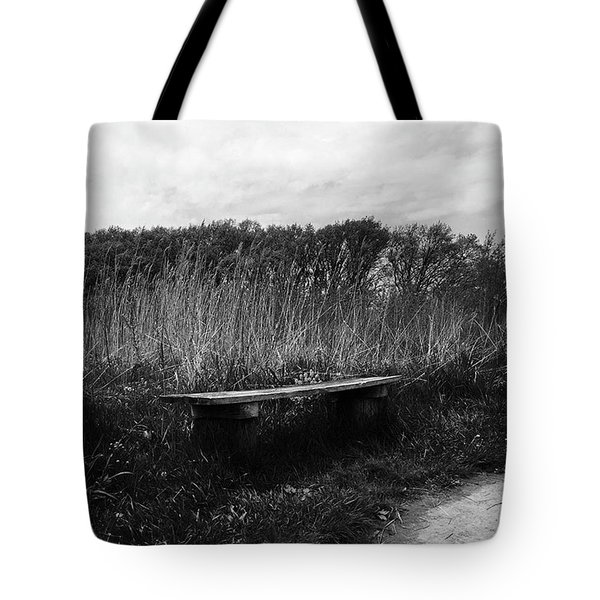 Bench In The Prairie Tote Bag