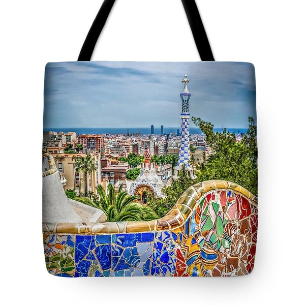 Bench Of Barcelona Tote Bag