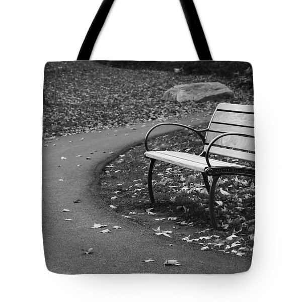 Bench On The Walk Tote Bag