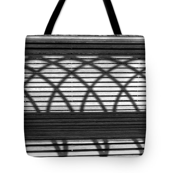 Bench Patterns Tote Bag