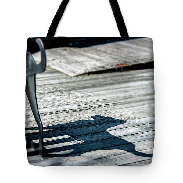 Bench Shadow Tote Bag
