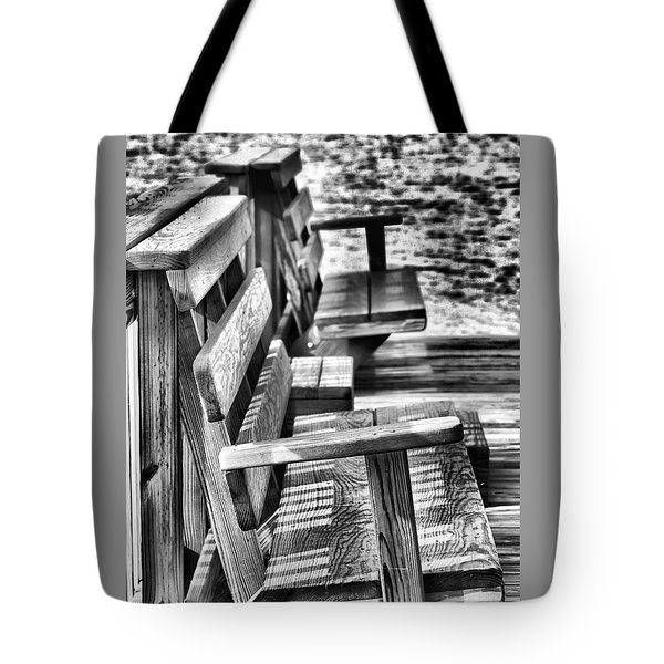 Benches By The Sea Tote Bag