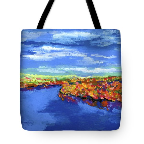 Bend In The River Tote Bag by Stephen Anderson