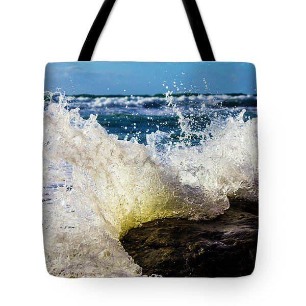Wave Bending Backwards Tote Bag