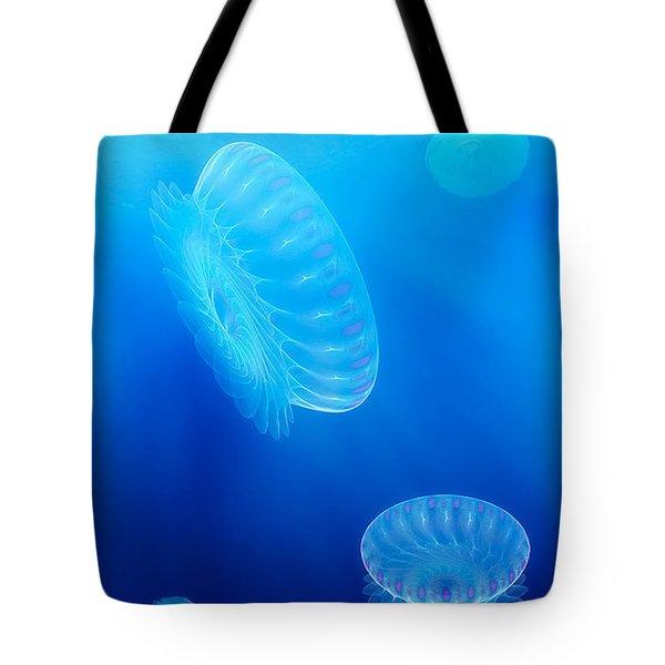 Beneath A Fractal Sea Tote Bag