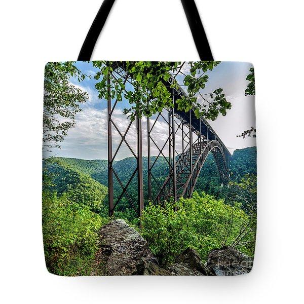 Beneath New River Gorge Bridge Tote Bag