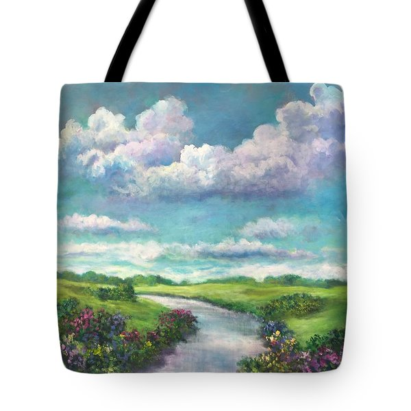 Beneath The Clouds Of Paradise Tote Bag