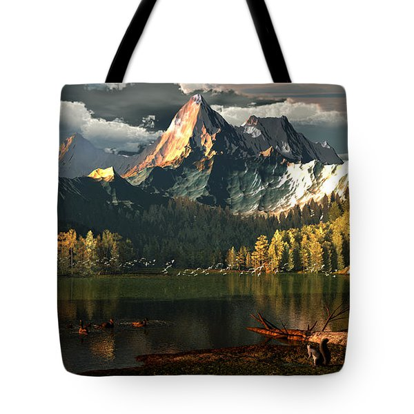 Beneath The Gilded Crowns Tote Bag