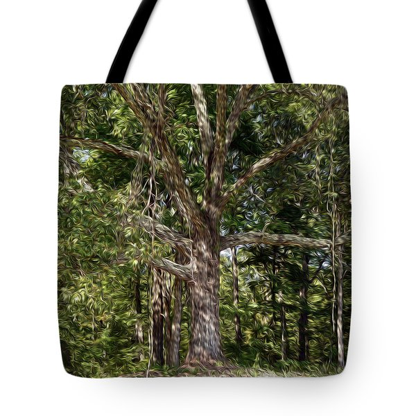 Beneath The Old Oak Tree  Tote Bag by Wanda Brandon