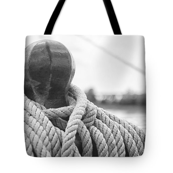 Beneath The Sail Coiled Rope Tote Bag