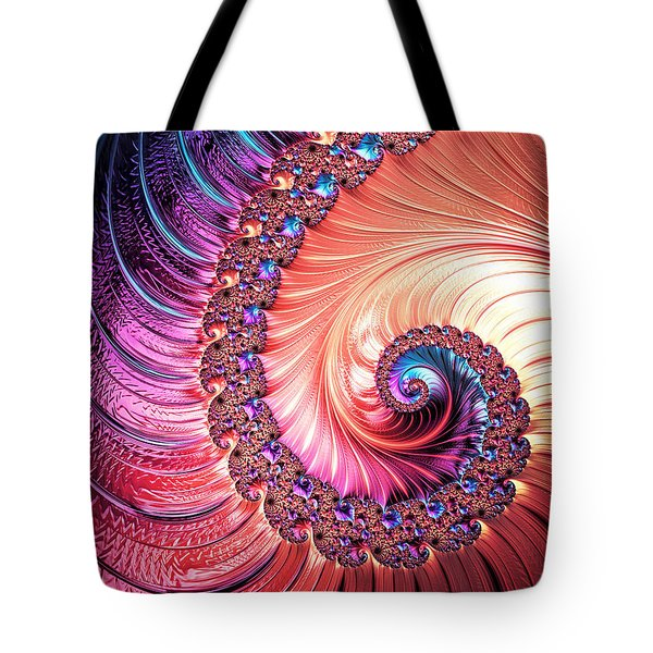 Beneath The Sea Spiral Tote Bag