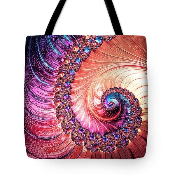 Beneath The Sea Spiral Tote Bag