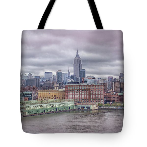 Beneath The Stormy Morning Tote Bag
