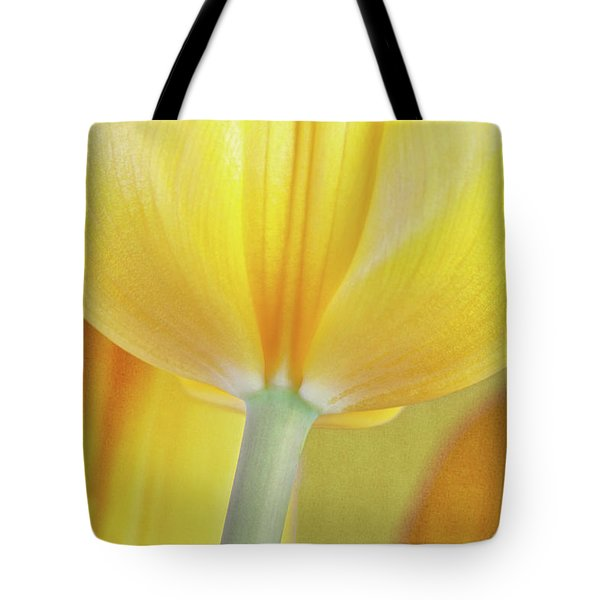 Beneath The Yellow Tulip Tote Bag