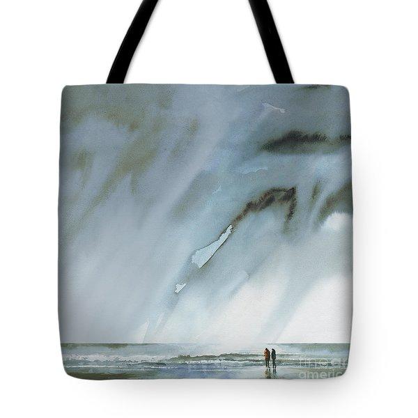 Beneath Turbulent Skies Tote Bag