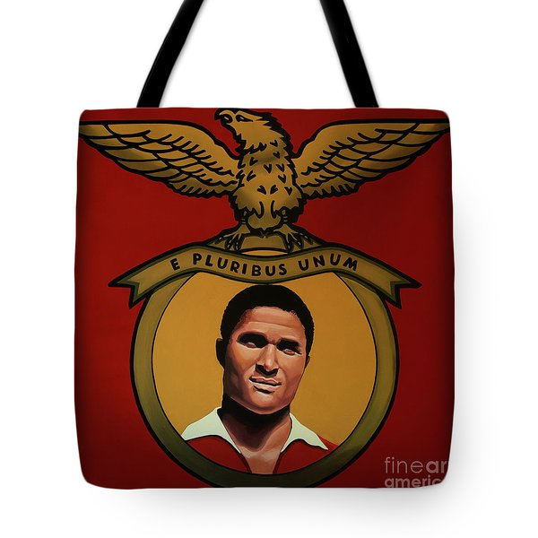 Benfica Lisbon Painting Tote Bag by Paul Meijering