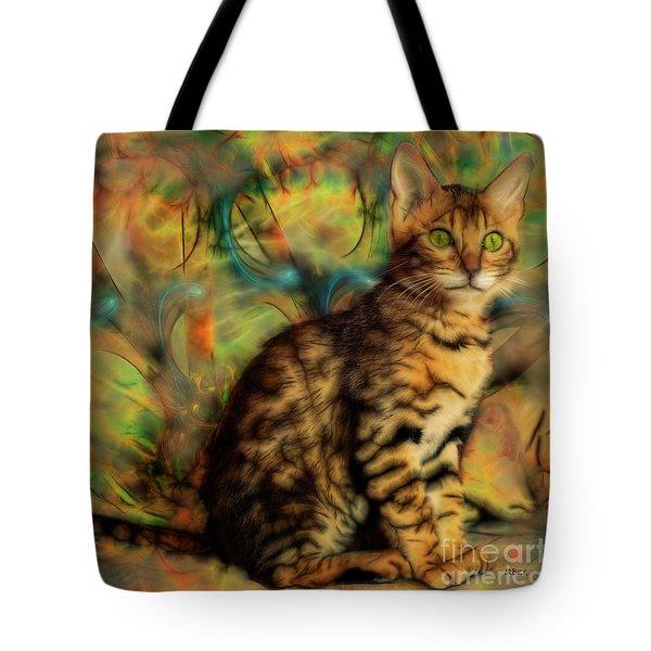Bengal Kitten Tote Bag by John Robert Beck