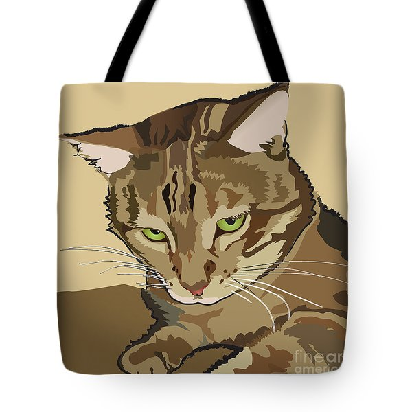 Bengal Kitty Pet Portrait Tote Bag