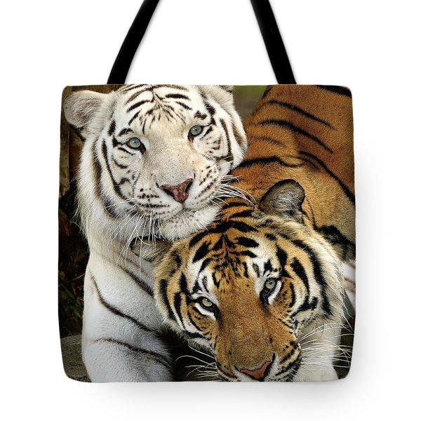 Bengal Tigers At Play Tote Bag