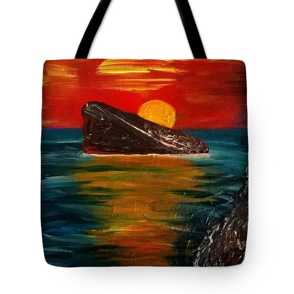 Tote Bag featuring the painting Benidorm by Jeepee Aero