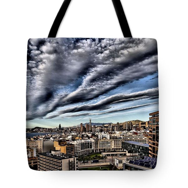 Benidorm Old Town Aerial View Tote Bag