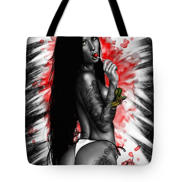 Tote Bag featuring the painting Benisato by Pete Tapang