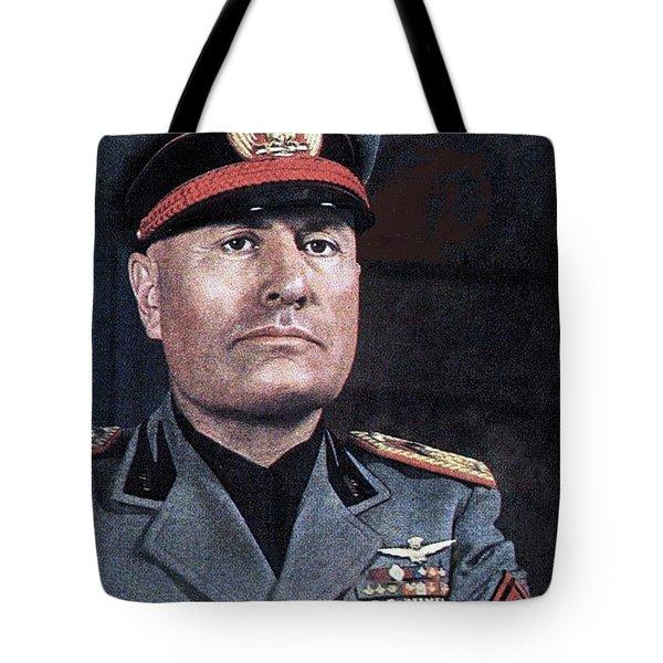 Benito Mussolini Color Portrait Circa 1935 Tote Bag