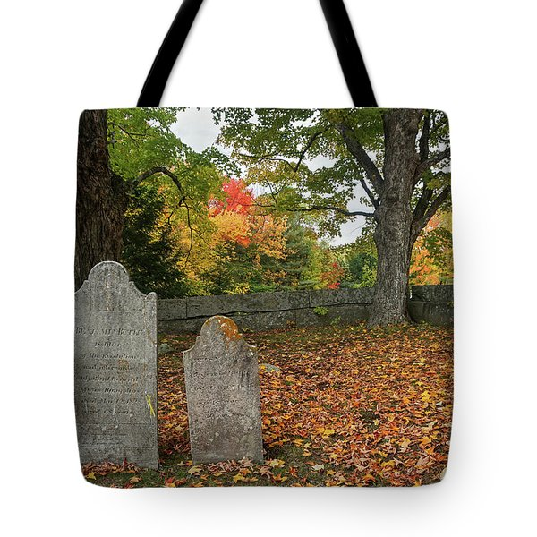Tote Bag featuring the photograph Benjamin Butler Grave by Wayne Marshall Chase
